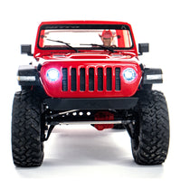 1/10 SCX10 III Jeep JT Gladiator Rock Crawler with Portals RTR Red