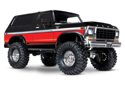 TRX-4 Scale and Trail Crawler with Ford Bronco Body:  4WD Red