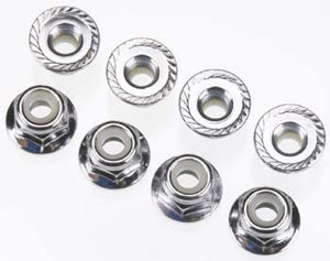 Flanged Nyl Lock Nuts 4mm (8)