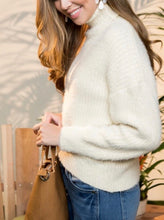 Load image into Gallery viewer, Just Darling Turtle Neck Sweater - Ivory - Radix Boutique