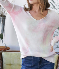 Load image into Gallery viewer, State Fair Tie-Dye Sweater Top - Pink Multi - Radix Boutique