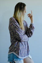 Load image into Gallery viewer, Frances Floral Loose Tunic Top - Lavender - Radix Boutique
