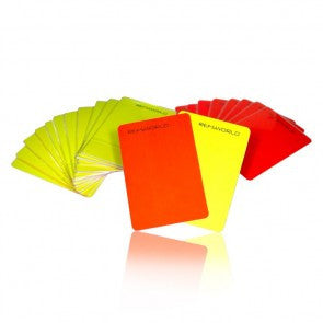 Refsworld Red and Yellow Card Set