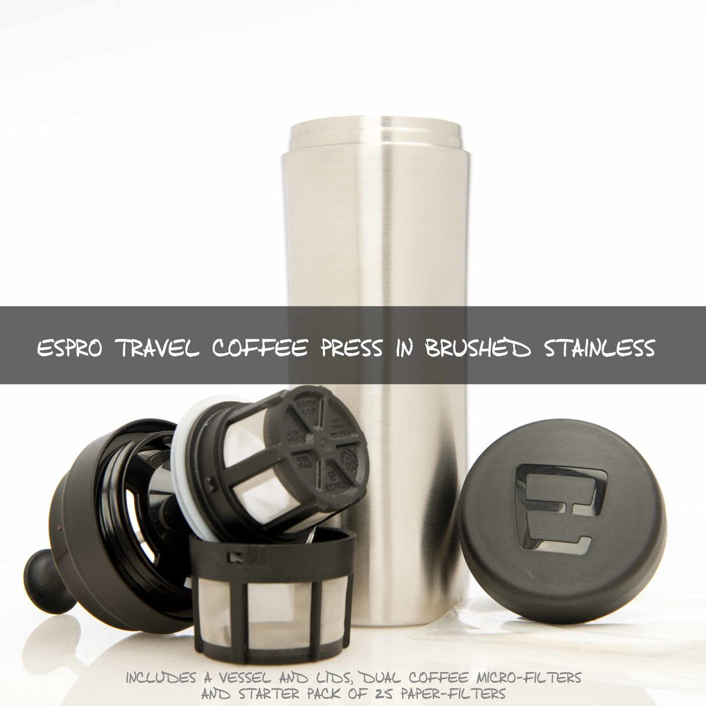 Espro Coffee and Tea Stainless Steel Travel Press