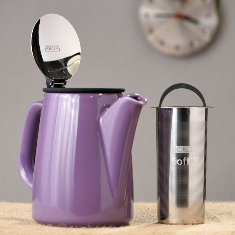 FORLIFE Infusion Coffee Maker, Purple, 30 oz