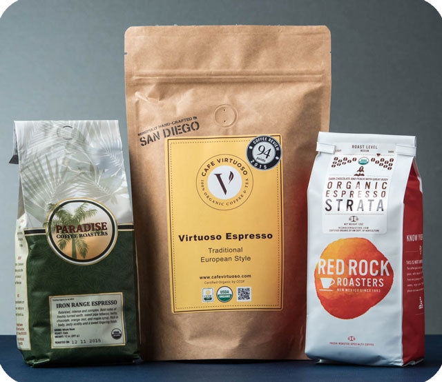 Organic Espresso Trio, Whole Bean Coffee Variety Pack