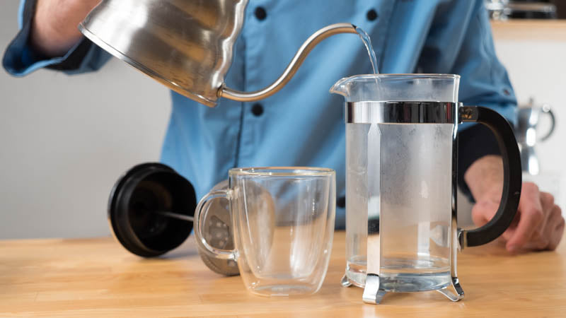 Pouring Hot Water Into Coffee Maker : How to make perfect French Press Coffee - Brew Guide and ...