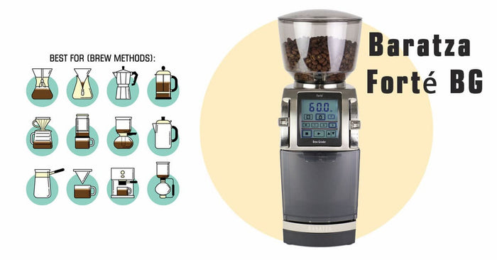 Baratza Forte BG Burr Coffee Grinder, 54 mm Steel Flat Burrs, 260 Grind Settings with Micro and Marco Adjustments