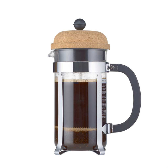 Bodum Chambord French Press, Cork Top Lid, 8 cup (EXCLUSIVE Bamboo Stirring Paddle Set)