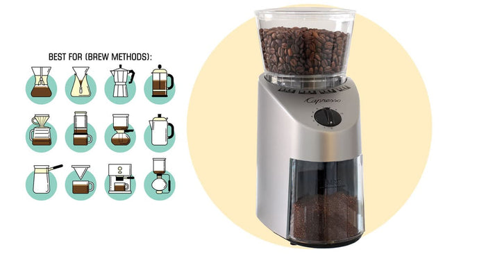 Capresso Infinity Burr Coffee Grinder - Efficient, Quiet, Budgetable Pick