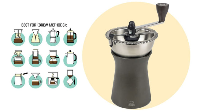 Peugeot Kronos Hand Coffee Grinder, 43 grind settings (great grind range from Aeropress to French Press)