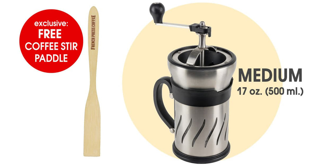 Peugeot Paris Press 2-in-1 Coffee Mill and French Press