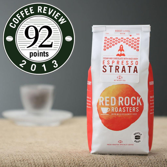Espresso Strata Whole Bean Coffee, Red Rock Roasters, 12 oz.