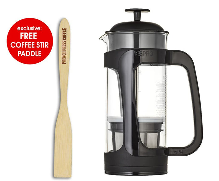 Espro Press P3 - Durable Schott-Duran Glass Carafe, Coffee Micro-Filter (EXCLUSIVE: Free Coffee Stir Paddle)
