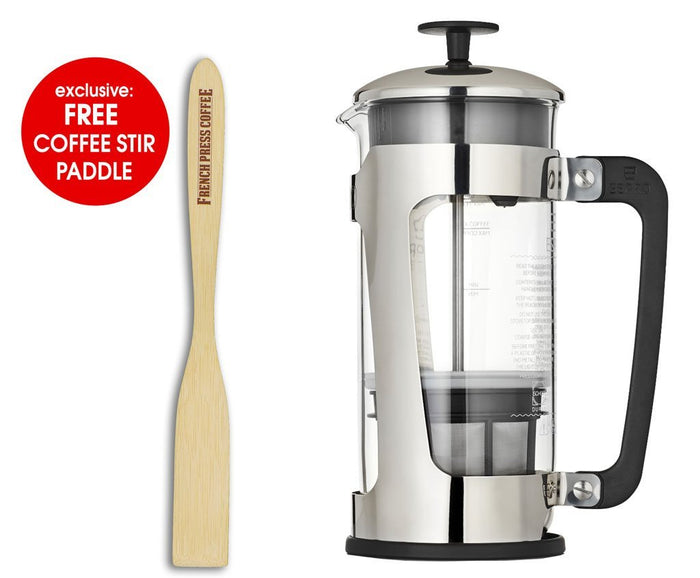 Espro Press P5 - Durable Schott-Duran Glass, Coffee Micro Filter, 32 oz.  (EXCLUSIVE: Free Coffee Stir Paddle)