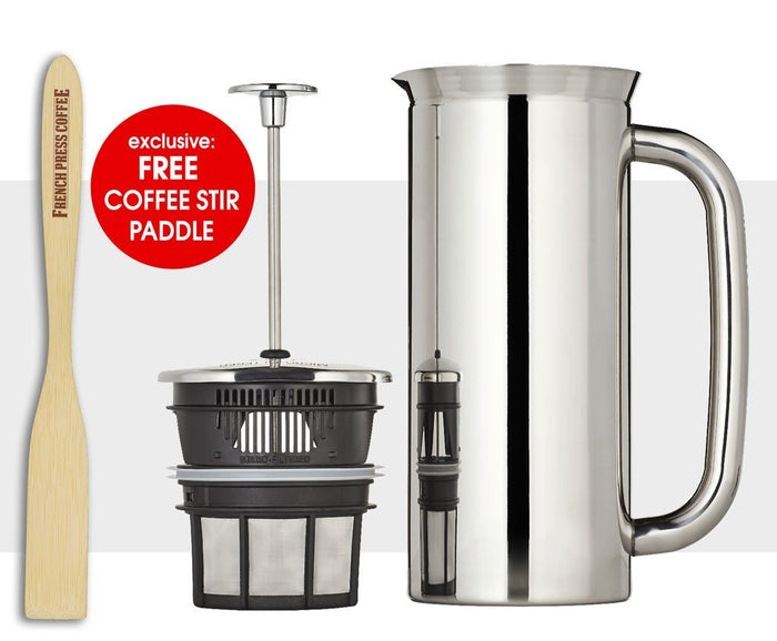 Espro Press P7 - Stainless Steel, Double Wall, Micro Coffee Filter (EXCLUSIVE: Free Coffee Stir Paddle)