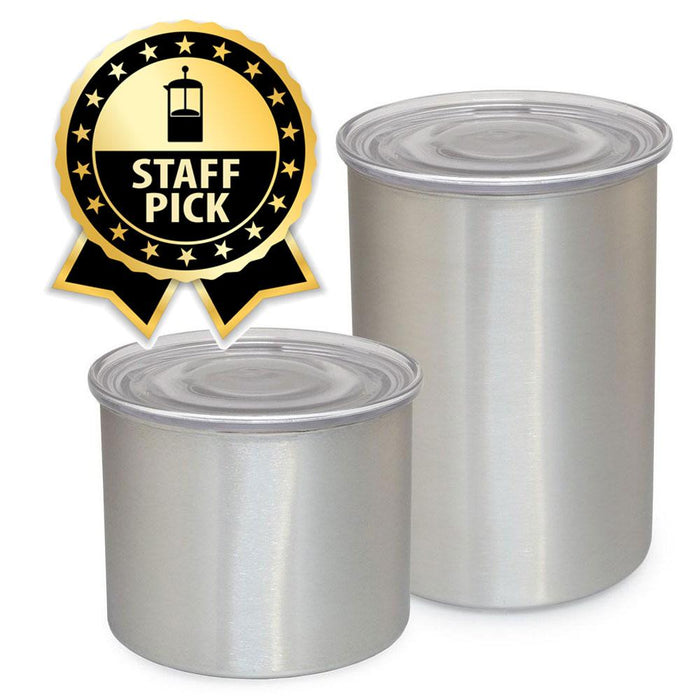 AirScape Coffee Storage, Stainless Steel Coffee Canisters by Planetary Design