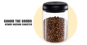 Coffee Storage - Fellow Atmos Coffee Canister Storage (Vacuum Pump, Clear Glass, 1.2 L) - Guard The Goods