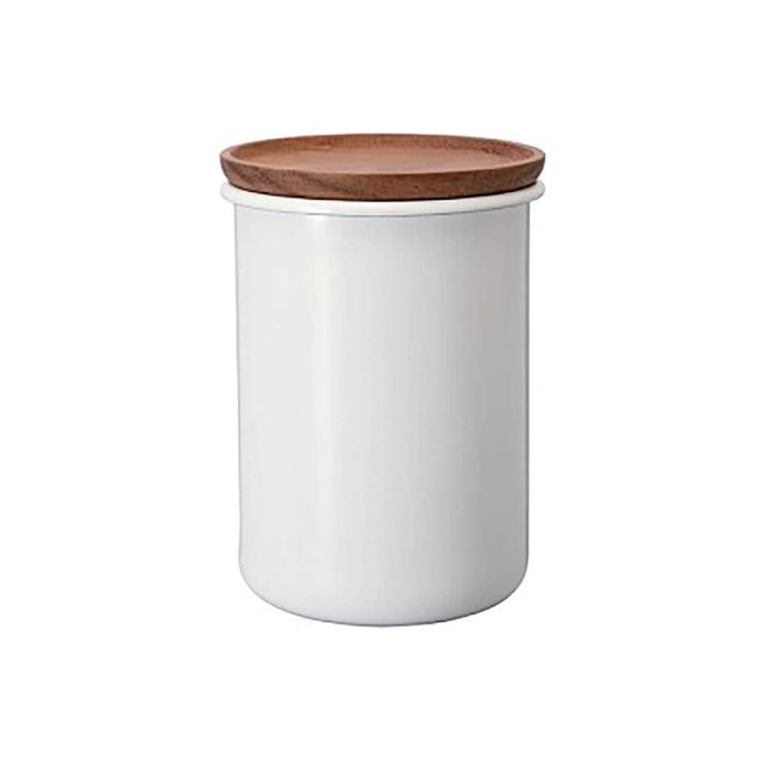 Hario Bona Enamel Coffee Canister, 27 oz. - Keep Your Coffee and Tea Fresh