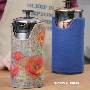 Keep Your Coffee Warm - Wool Cover For Your French Press Coffee Maker