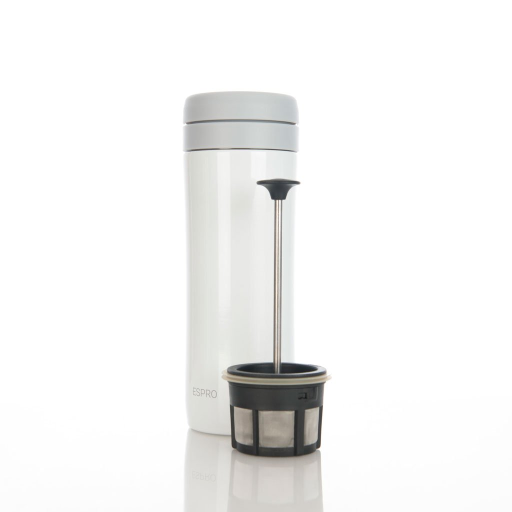 45e76e11b8b ... Tumblers & Travel Mugs - Espro Press, Travel French Press, 12 Oz With  Coffee ...