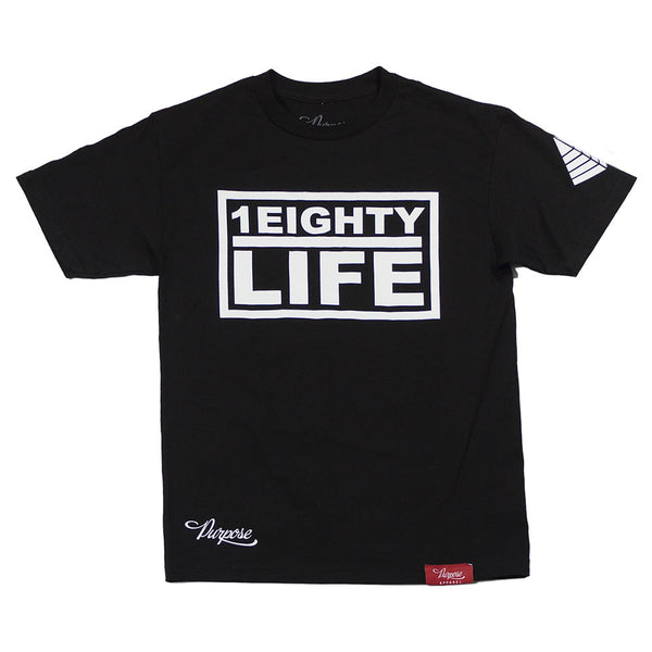 1Eighty Life Tee Black