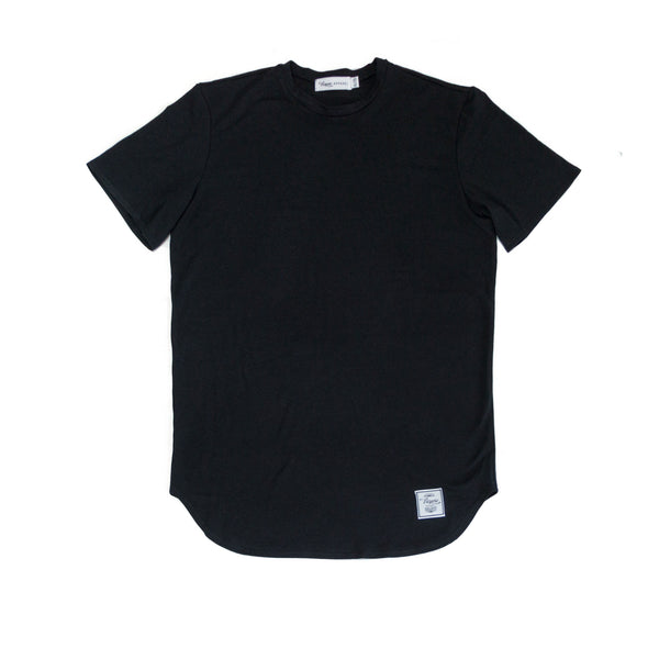 01 Elongated Tee Black