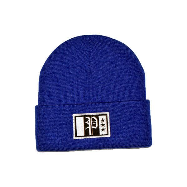 Brix Patch Beanie Blue