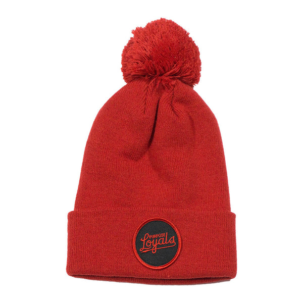 Loyals Red Pom Pom Toque
