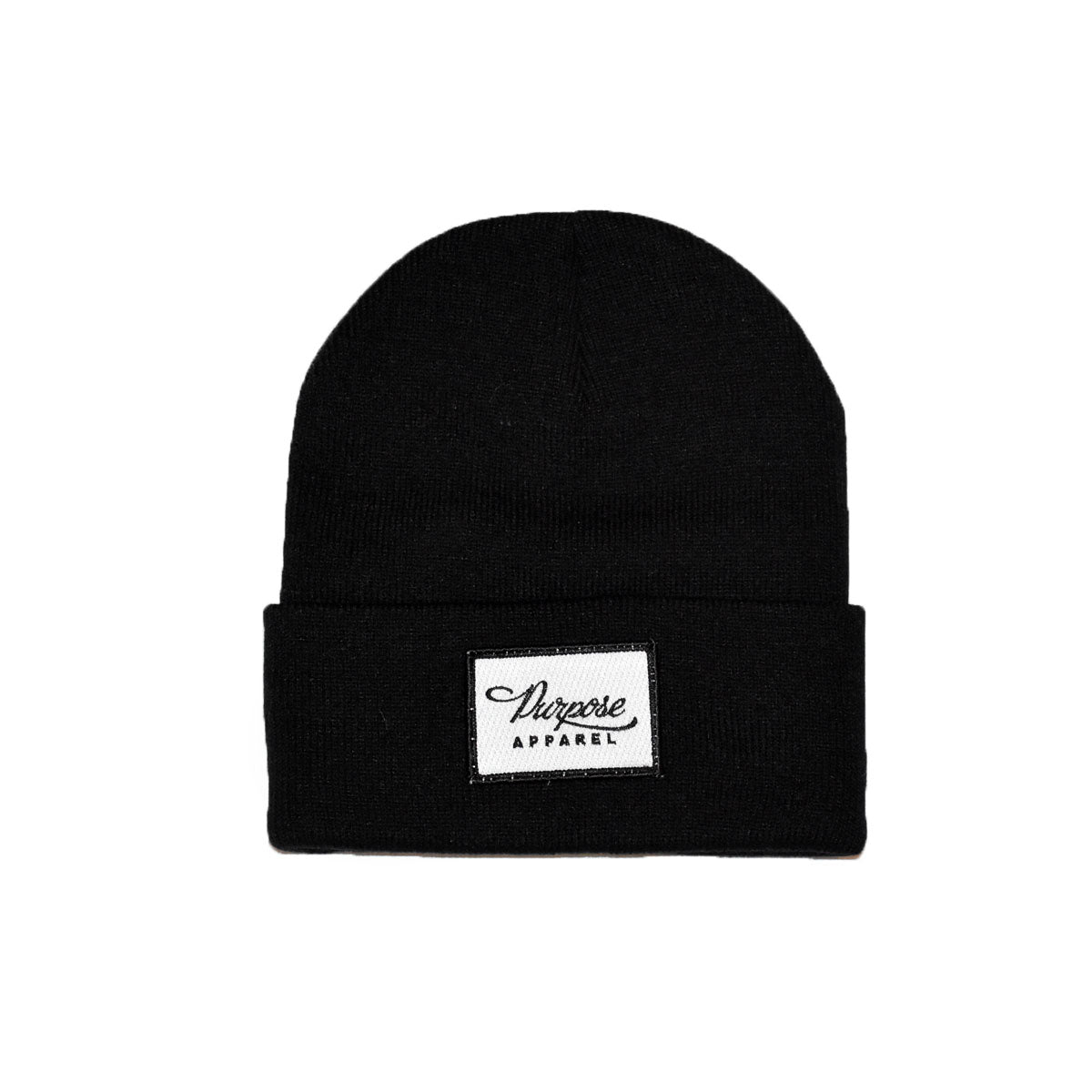 Purpose Patch Beanie Black