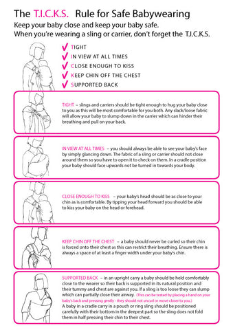 TICKs Guidlines for Safe Babywearing