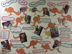 Beautiful Kangaroo Care Awareness Day Board from local hospital