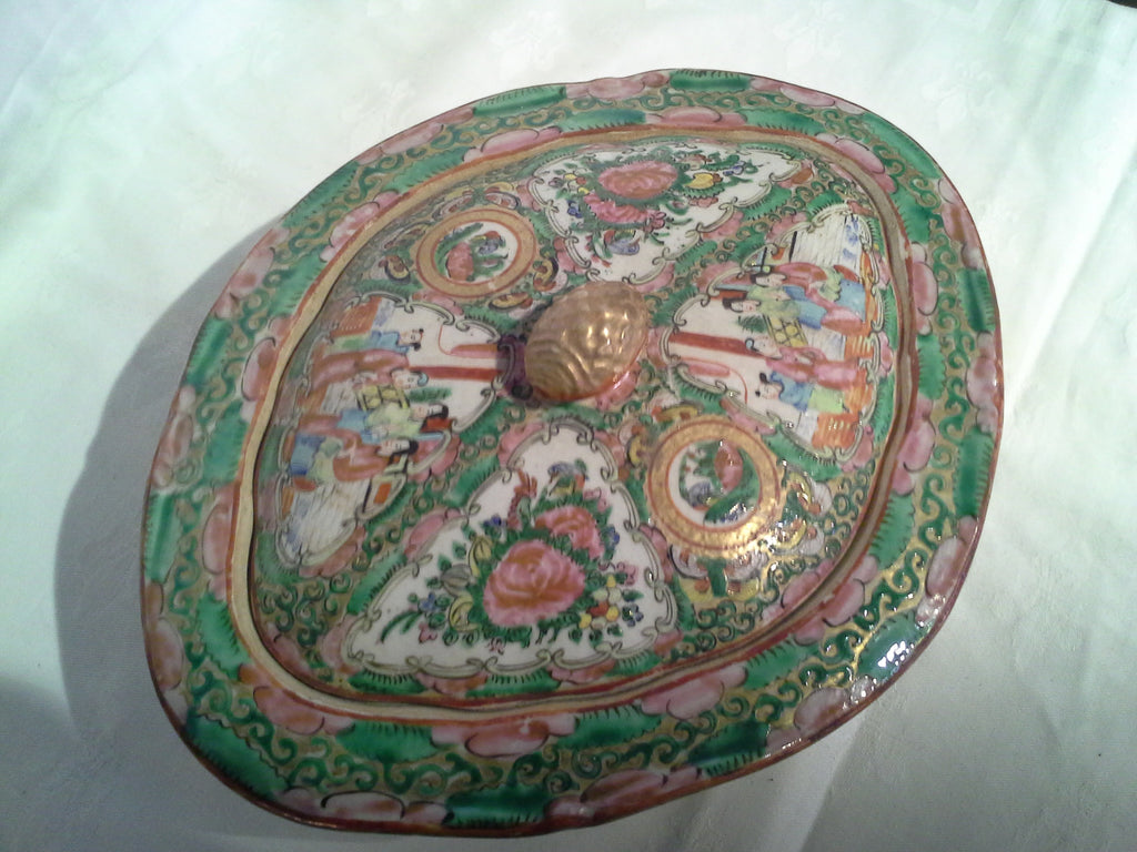 Chinese Famille Rose Medallion covered serving dish