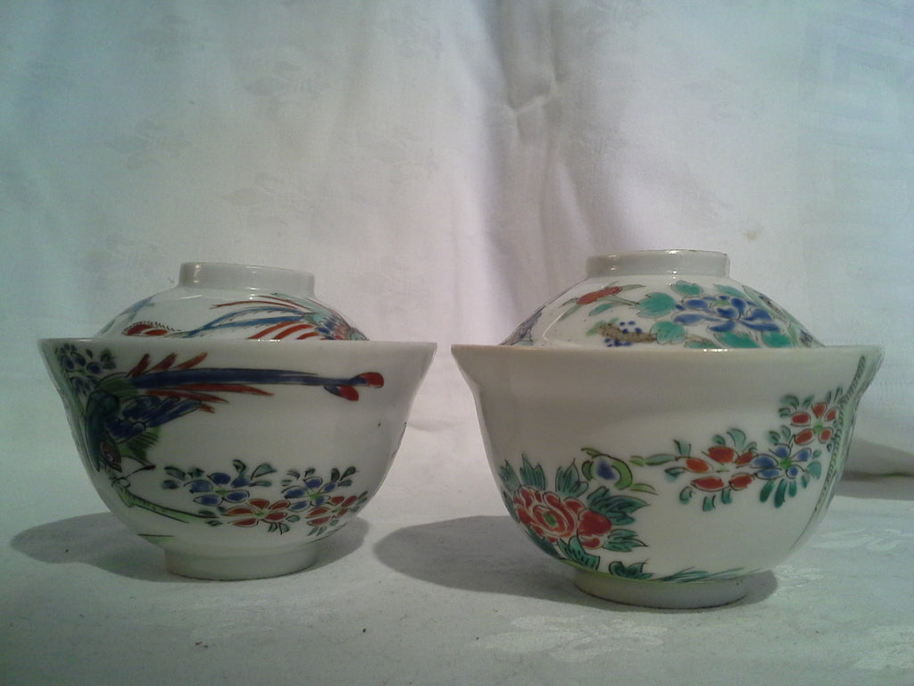 Chinese tea bowls with lids
