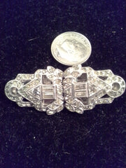 Vintage Art Deco Doublette Brooch and Dress clips