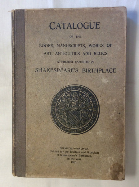 Sheakspeare's Birthplace Catalogue