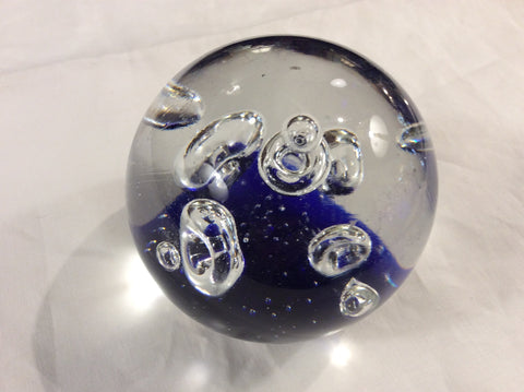 Handblown glass paperweight