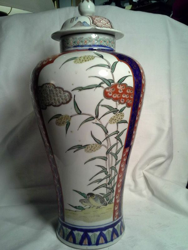19th Century Japanese Imari Vase Urn With Lid Charlotte Elliott