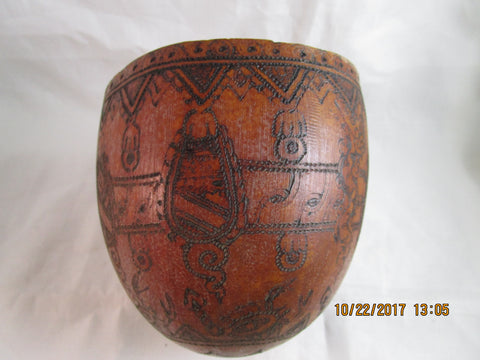 Decorated Calabash Cup