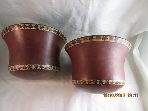 Pair of Elegant Nazga  Wide-Mouth Bowls