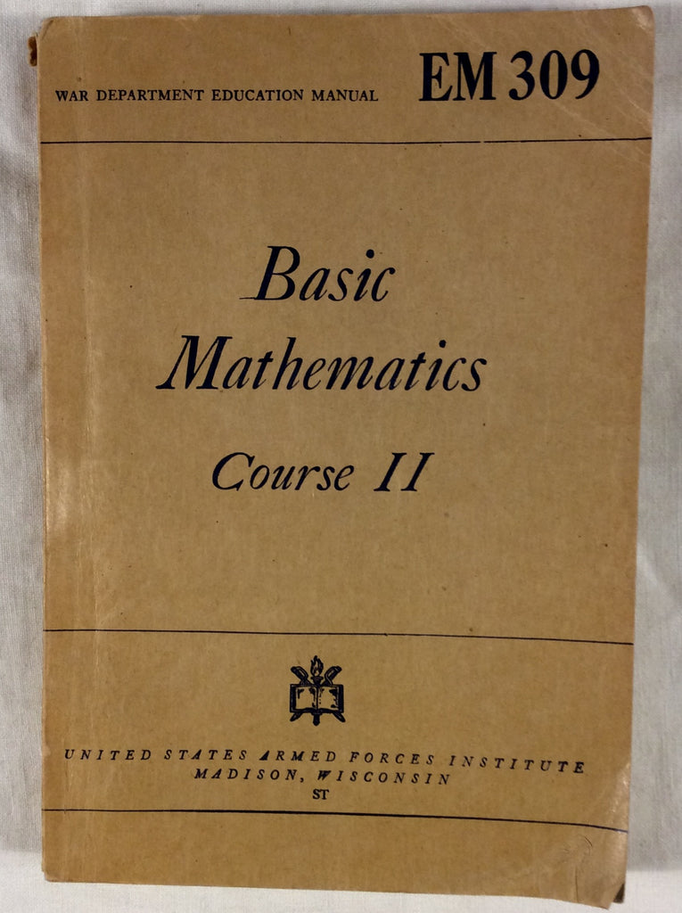 Basic Mathematics Course II