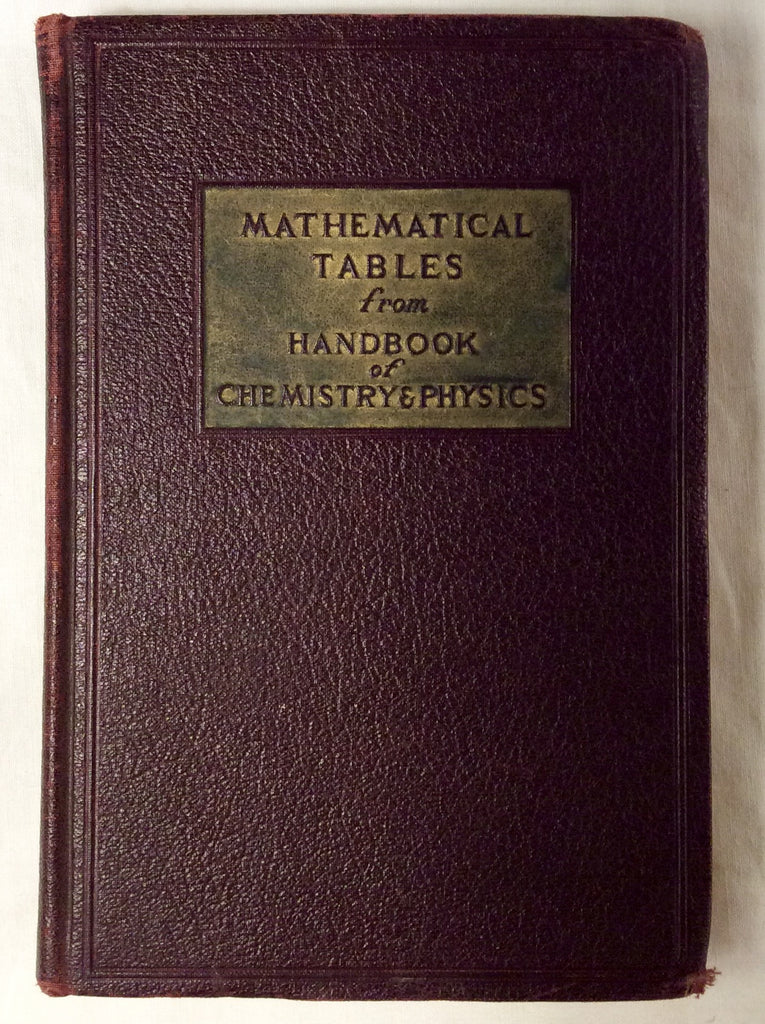 Mathematical Tables from Handbook of Chemistry & Physics