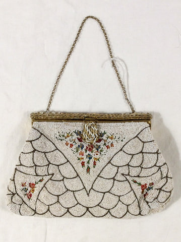 Beaded and Embroidered Evening Bag