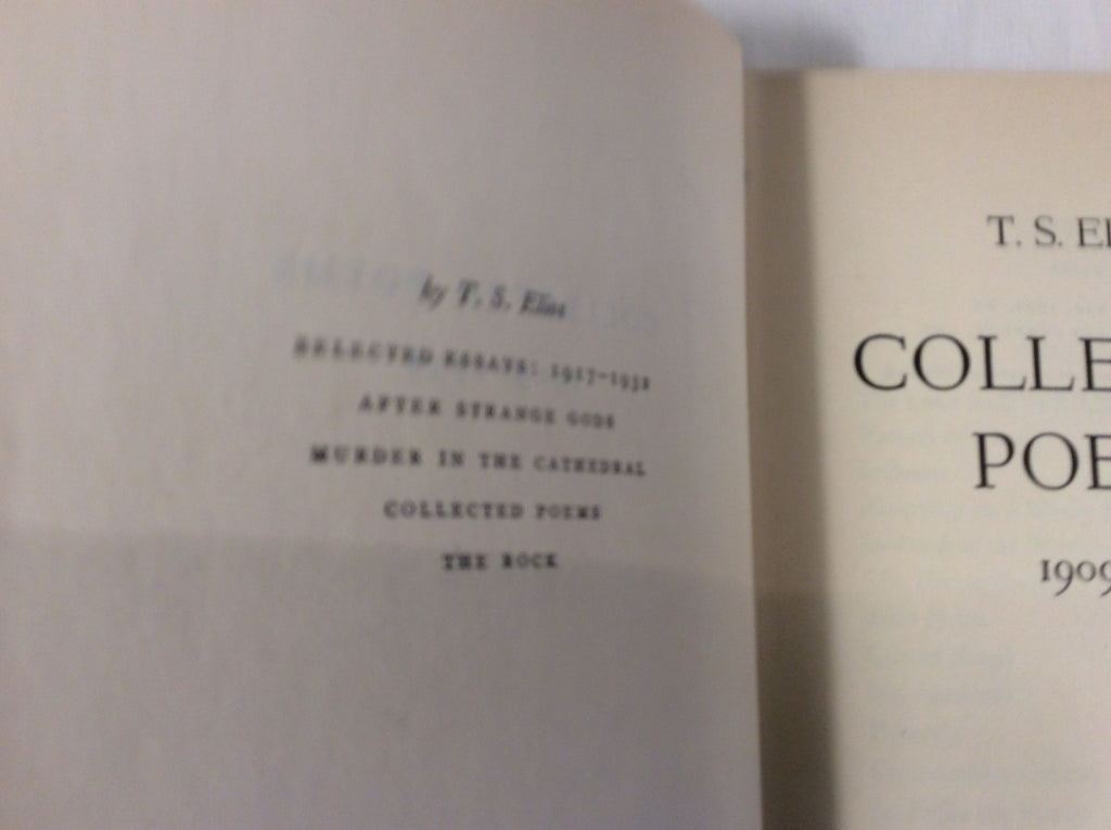 Collected Poems 1909-1935 - T.S. Eliot