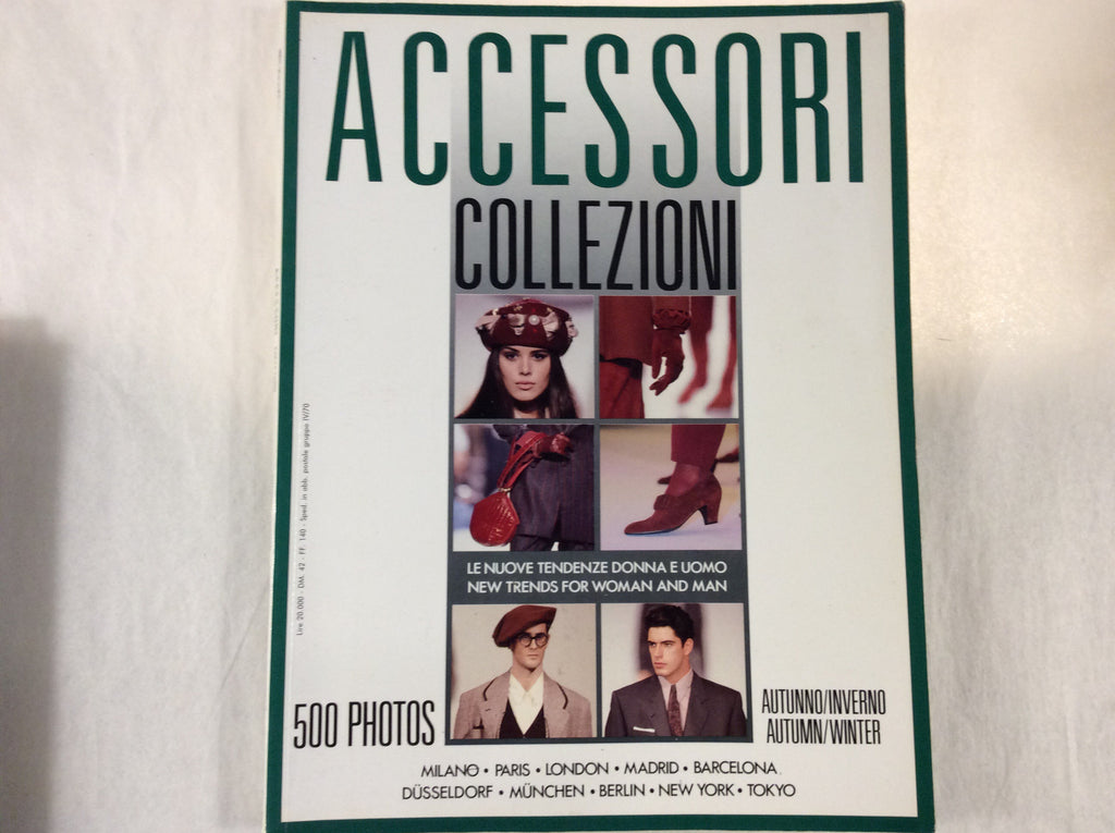 Accessori Collezioni Autum/ winter 1989/1990