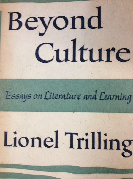 Beyond Culture , Essays on Literature and Learning