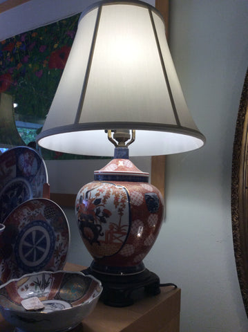 Imari jar mounted as lamp