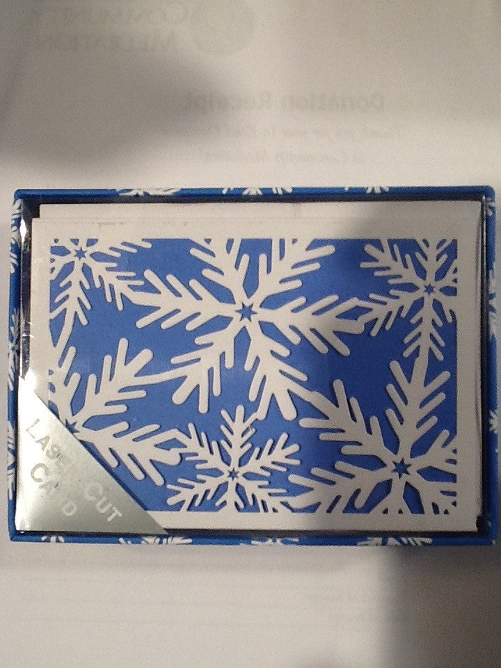 Snowflake Holiday Cards/ Laser cut- Boxed Set