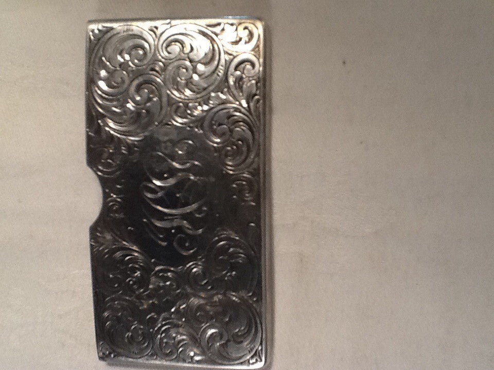 Victorian sterling silver calling card case