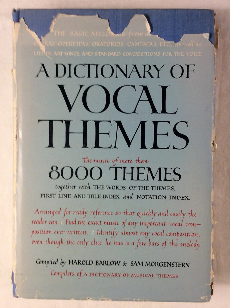 A Dictionary of Vocal Themes